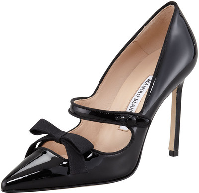 Manolo Blahnik - Fiocam Patent Leather Mary Jane Pump