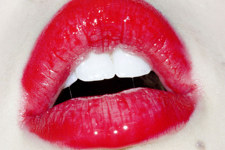Terry Richardson - Untitled (red lips)