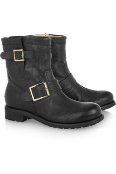 JIMMY CHOO - Youth leather biker boots