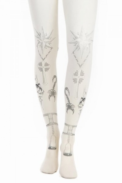 Rodarte for Opening Ceremony - Tattoo Tights - Off-White/Blue Black - RWA01