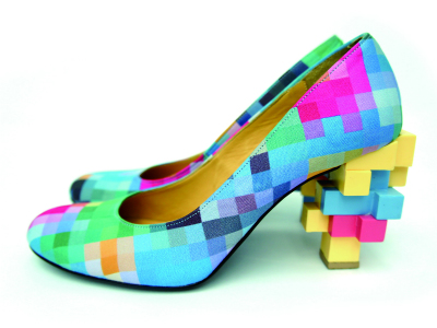 ANREALAGE - LOW PIXEL PRINT PUMPS