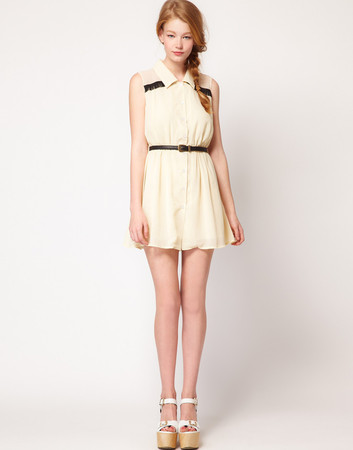 ASOS - chiffon shirt dress