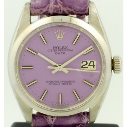 ROLEX - 1961 Datejust Rolex with original custom painted purple dial
