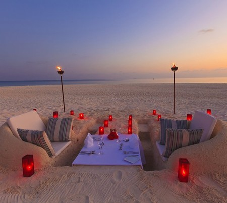 Maldives - Sand Castle Dining at Velassaru Resort