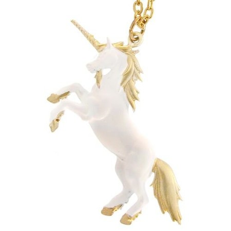 "1.5"" Vintage 1970'S Enamel Unicorn Necklace, Seventeen!"