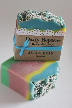 Luulla - JELLY BEAN Soap Scented EASTER Vegan Cold Process Cp