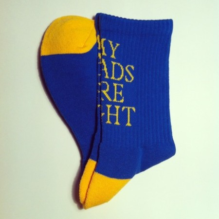MY LOADS ARE LIGHT - M.L.A.L SOX / blue × yellow