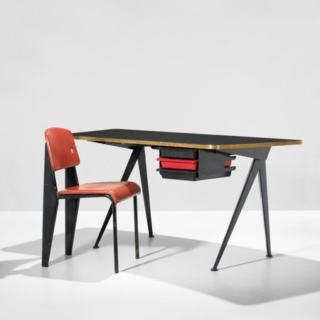 Jean Prouvé x Charlotte Perriand - Desk with drawers & Chair,