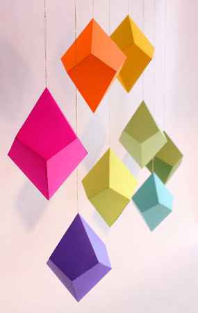 FieldGuideDesign - Set of 8 DIY Cut-and-Fold Paper Polyhedra Ornaments