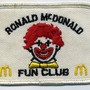McDonald's - Ronald McDonald Fun Club Patch, 1970's