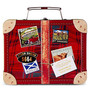 Mini assorted shortbread in suitcase tin 250g