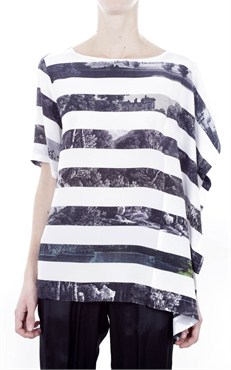 DRIES VAN NOTEN - PRINT STRIPE SHIRT