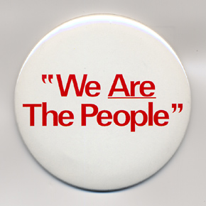 "MASH CO. - TAXI DRIVER  ""We Are The People""Badge"