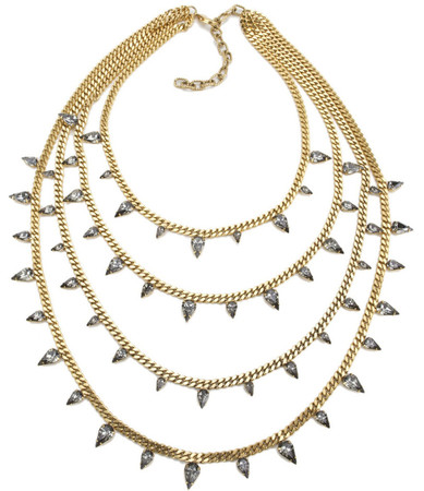 Elizabeth Cole - Four Stranded Pear Necklace