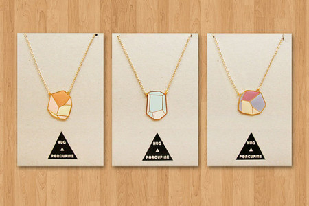 Hug a Porcupine - geometric rock necklaces