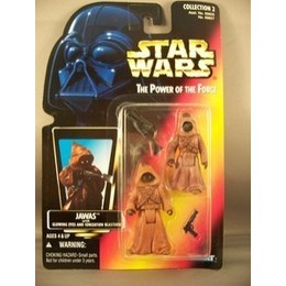 kenner - STAR WARS Jawas Figures Orange Card Power Of The Force STAR WARS