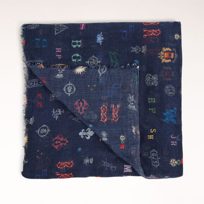 Stella McCartney - Silk Mix Monogram Print Scarf