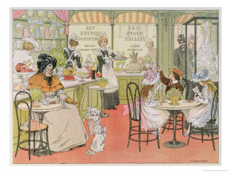 Francis Donkin Bedford - The Tea Shop, from The Book of Shops, 1899 ジクレープリント