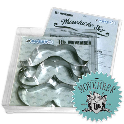 FUZZYink - Mustache Cookie Cutter Set