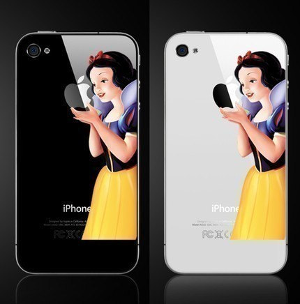 etsy.com - iPhone4 Snow White Decal