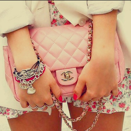 Small Double Flap Bag Pink