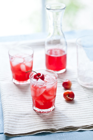 Apricot and Cherry Cocktail