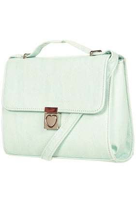 TOPSHOP - Heart Lock Cross Body Bag