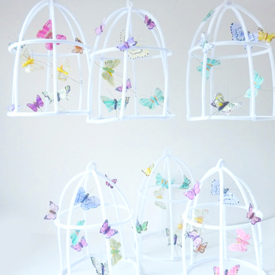 The Butter Flying - Whimsical Fairy Poetic wire butterflies cage
