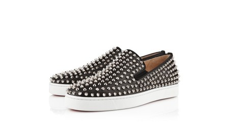 Christian Louboutin -  Roller-Boat Spikes Shoes