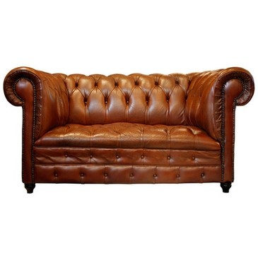 Jean Marc Fray French Antiques - 1STDIBS.COM - Jean-Marc Fray French Antiques - Vintage Havana Leather Chesterfield Sofa ($5000+) - Svpply