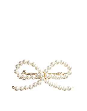 asos - Image 2 of ASOS Pearl Bow Hair Barrette