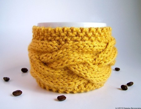 Natalya's Studio - Honey Yellow Cup Cozy