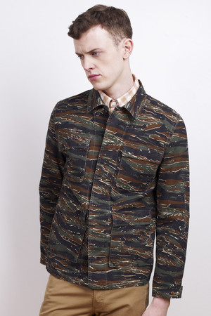 Fly Front Camouflage Jacket