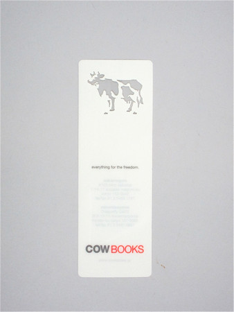 COW BOOKS - Cow Bookmark