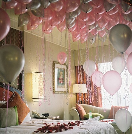 sleep with balloons