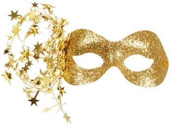 Gold Glitter Masks
